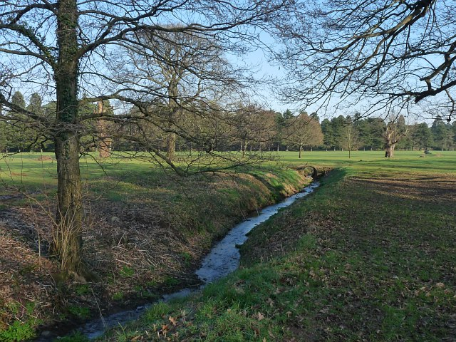 Stream in Tredegar House Country Park