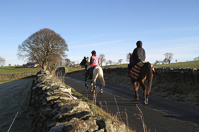 Horse riders at Crumhaugh Hill