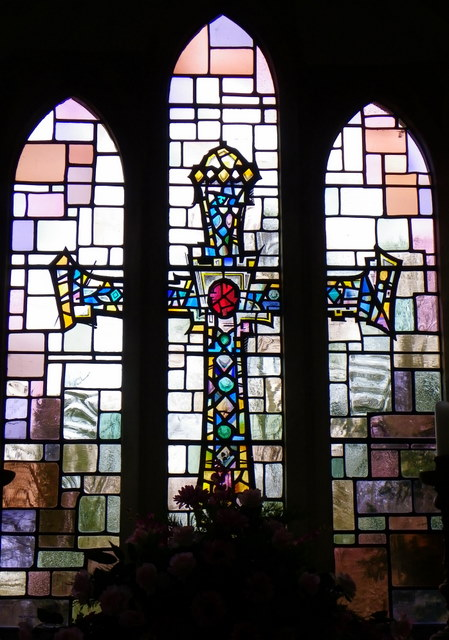 Stained glass window, The Church of St Mary the Virgin