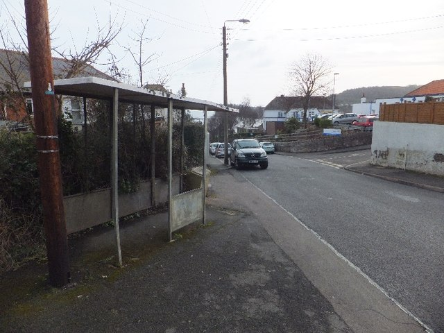 Mill Lane and former bus shelter