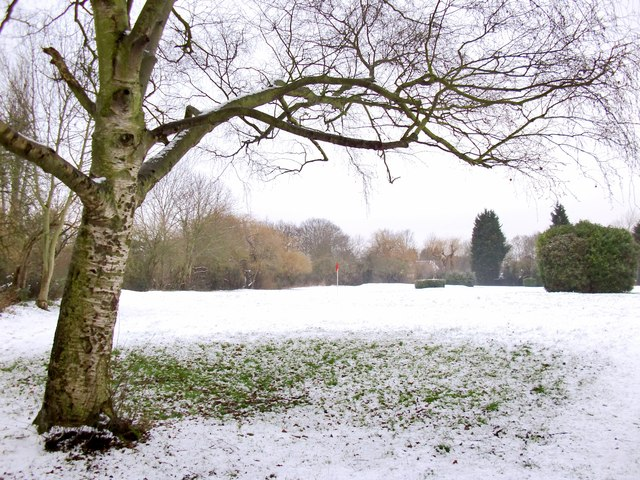 The 'pitch and putt', Palewell Park, under snow