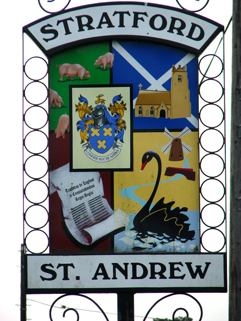 Stratford St Andrew village sign