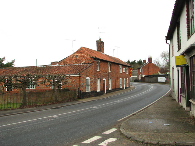 The A12 road through Farnham