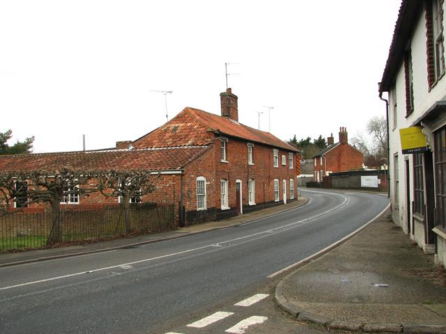 The A12 road through Farnham