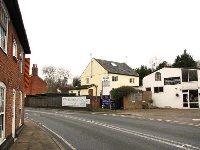 The A12 road past Farnham Industrial Estate