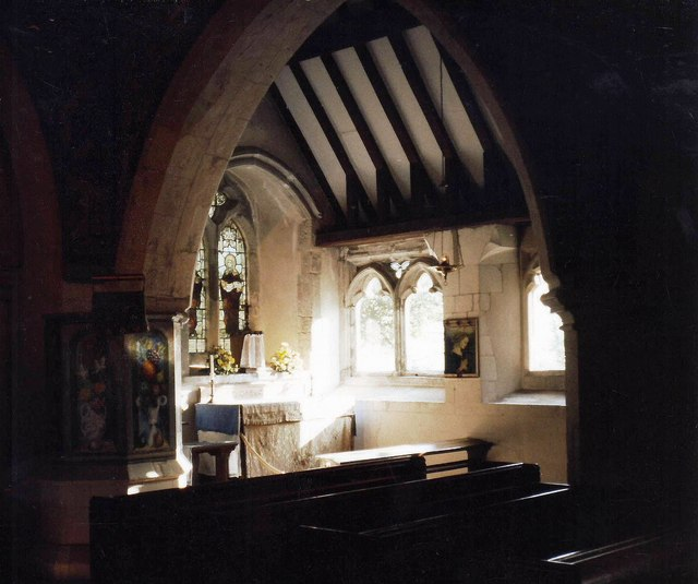 Interior of St. Michael and All Angels, Berwick , East Sussex