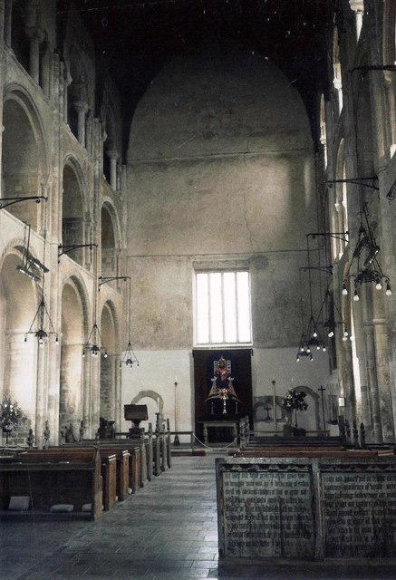 Interior of St Mary & Holy Cross, Binham, Norfolk