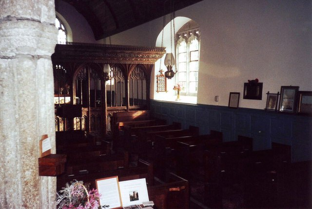 Interior of St. Peter's Church, Buckland-in-the-Moor