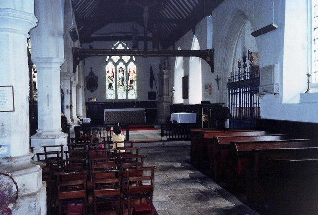 Interior of All Saints, Godshill