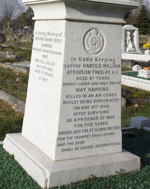 Sapper Harold William Atkinson Findlay R.E