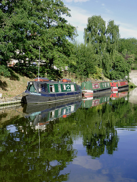 Canal moorings near Wheaton Aston, Staffordshire