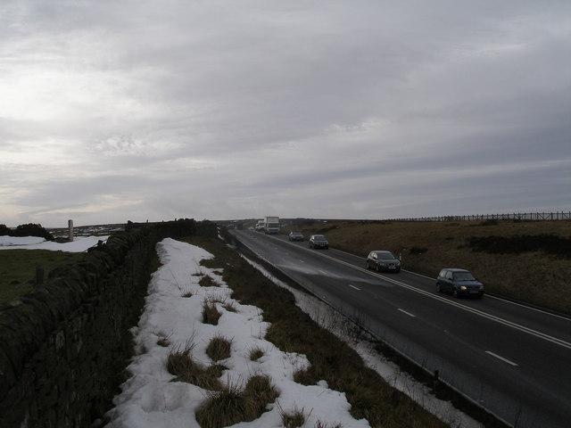 A628 Woodhead Road near Bord Hill