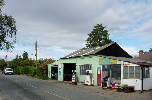 Turner's Garage at Wheaton Aston, Staffordshire