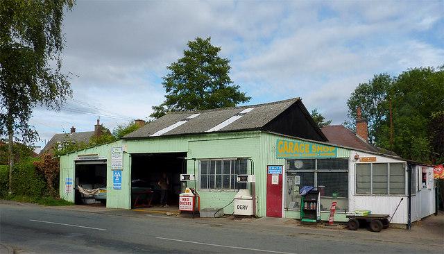Turner's Garage at Wheaton Aston, Staffordshire