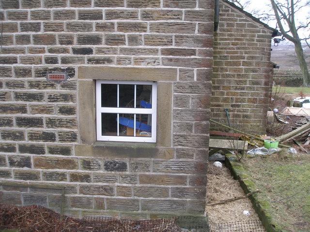 Cut mark on window surround at Bordhill Lodge