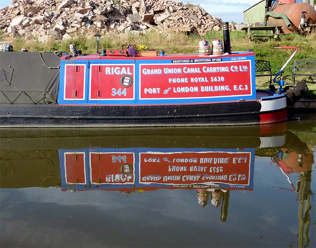 Working narrowboat at Wheaton Aston, Staffordshire