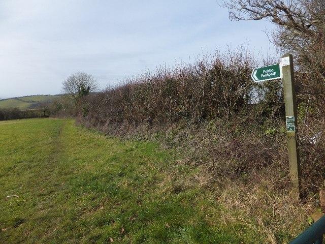 Public footpath off Shepherds Lane