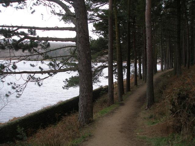 Footpath along the north side of Langsett Reservoir