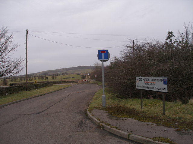 Old Manchester Road, east of The Flouch Inn