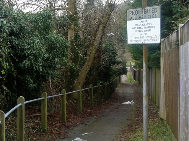 Old bottom end of Badgers Road