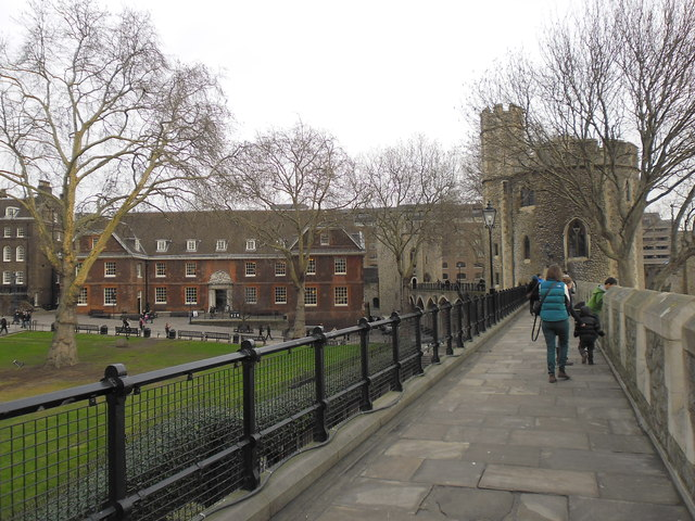 Walking the ramparts at The Tower of London