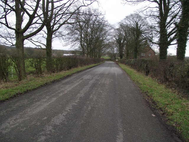 Quaker Brook Lane near Hoghton