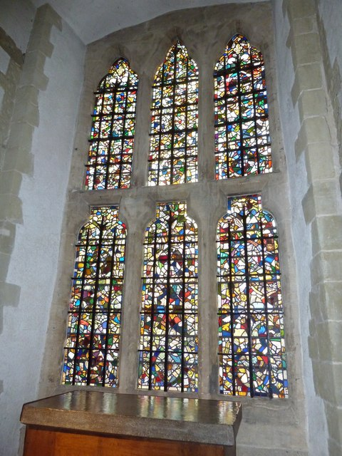 Stained glass window within The Tower of London