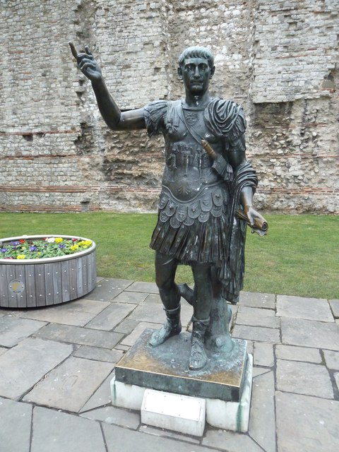 Statue of Trajan opposite Tower Hill Station