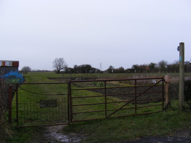 Allotments and footpath to Baynards Green & Gorams Mill Lane