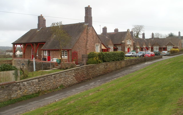 Caerwent : Grade II listed Burton Homes viewed from the north