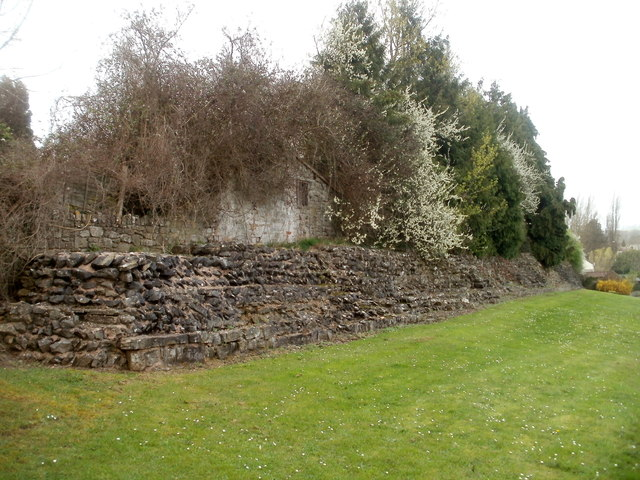 Part of the ancient Roman east wall, Caerwent