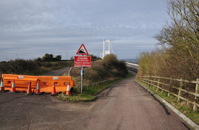 Severn Bridge : Footpath & Access Road