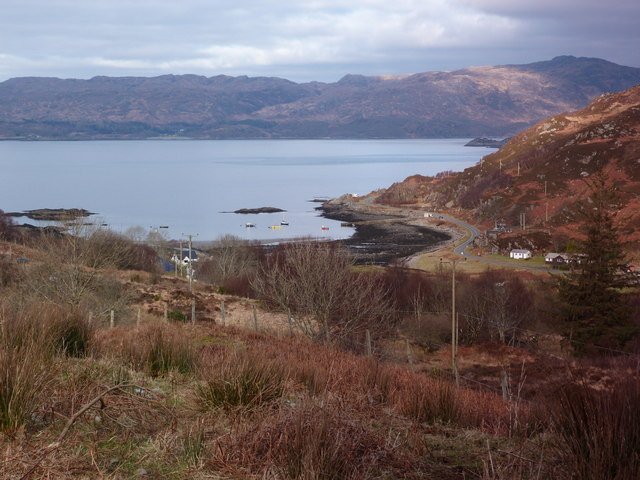 Looking down towards Glenuig
