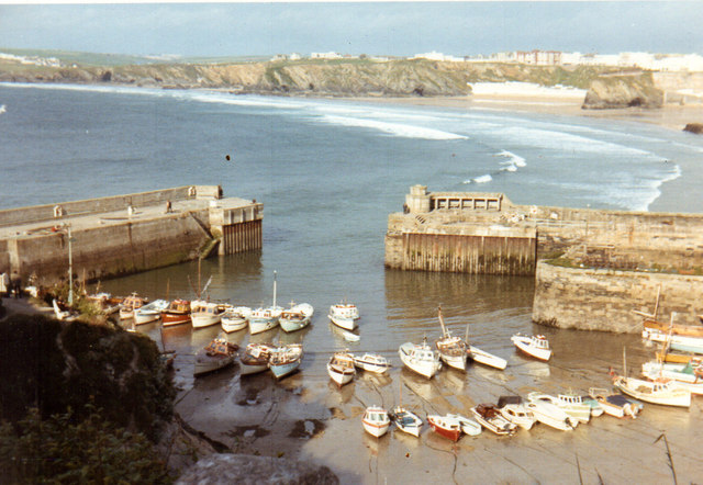 Newquay Harbour 1972