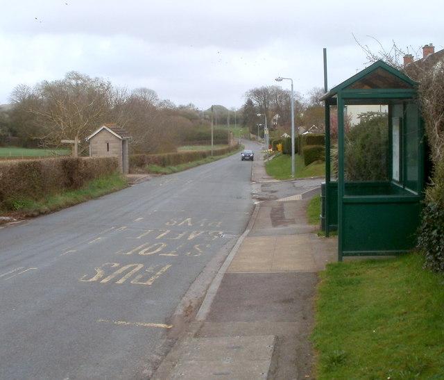 Bus shelter variety, Caerwent