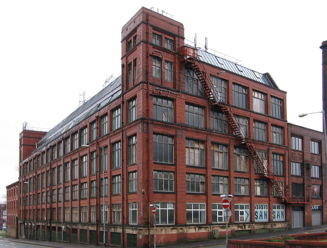 Bolton - factory at junction of Ash Street and Bridgeman Place