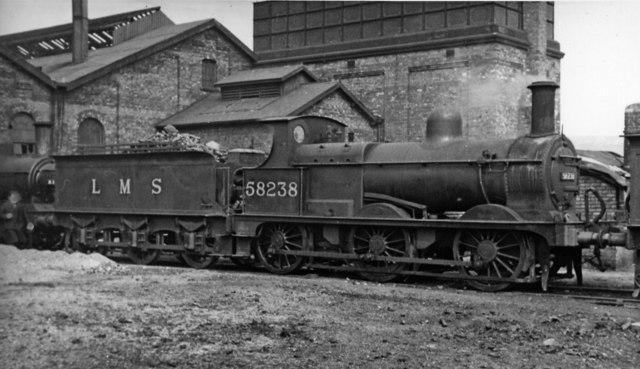 Ex-Midland 2F 0-6-0 at Canklow Locomotive Depot, Rotherham