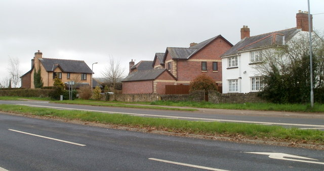 Houses at the eastern edge of Caerwent