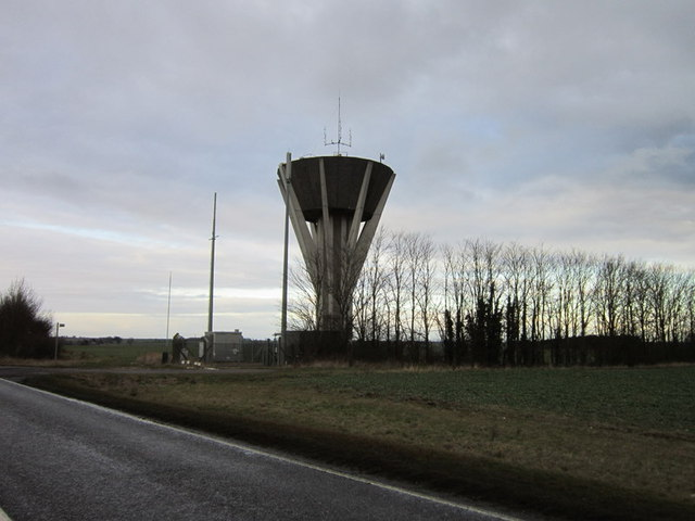 The water tower on the A15, south of Folkingham