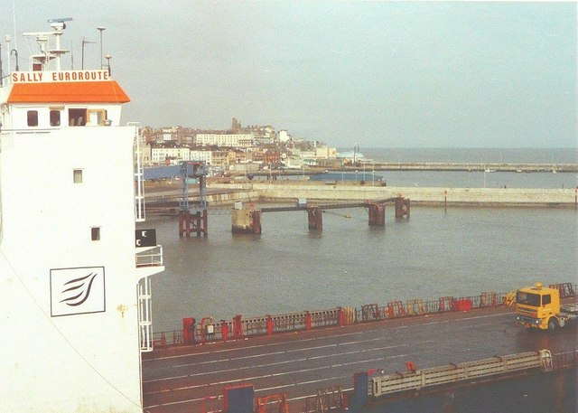 View from Sally Euroroute ferry at Ramsgate in 1994