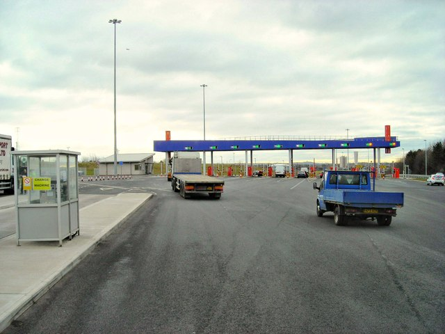 New Tyne Tunnel toll area