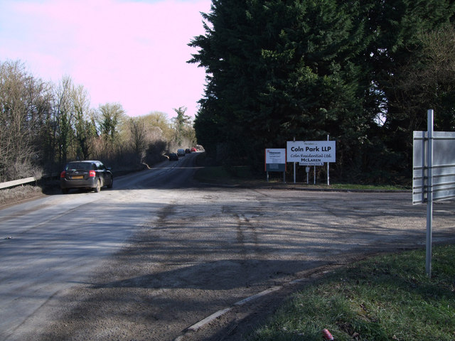 Entrance to Hanson Claydon Pike Works and Coln Country Park