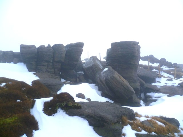 Rock Formations on Kinder Scout