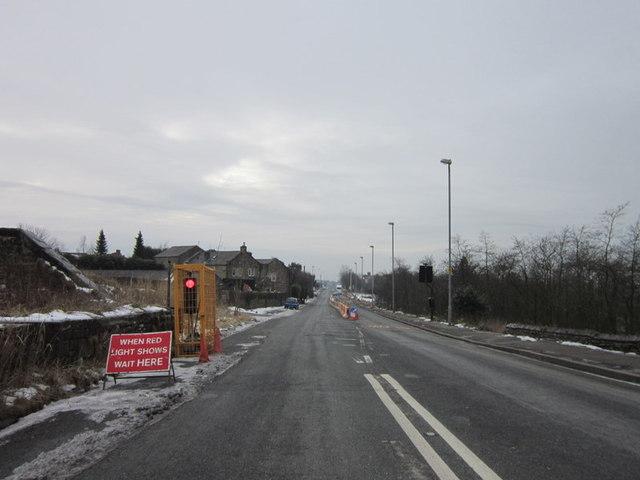 Roadworks on Ripponden Road