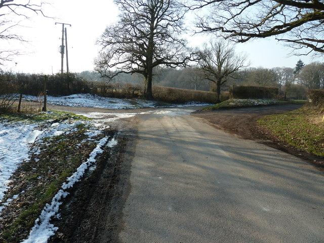 West along Spithandle Lane