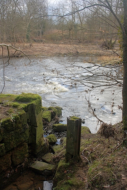 Remains of Gate on Old Race to Furness Mill