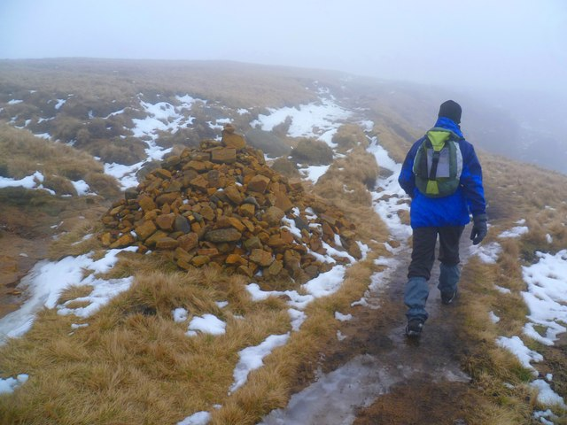 Path-side Cairn - Kinder Scout