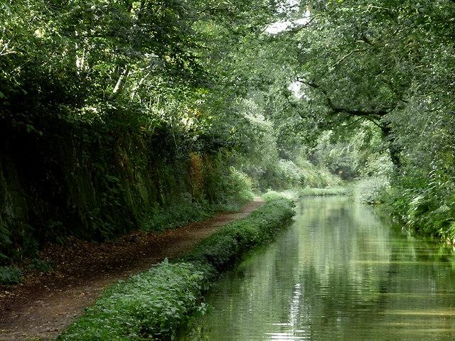 Shropshire Union Canal south-east of Market Drayton, Shropshire