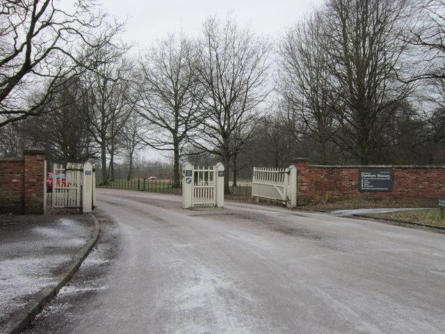 The entrance to Dunham Massey Estate