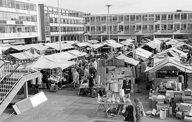 Market in Stone Cross, The High, Harlow